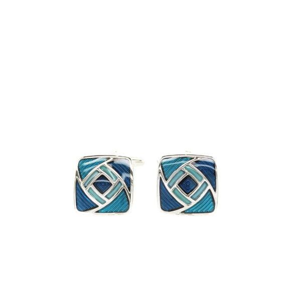 Blue Swirl Cufflinks