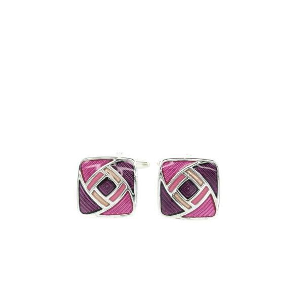 Purple Swirl Cufflinks