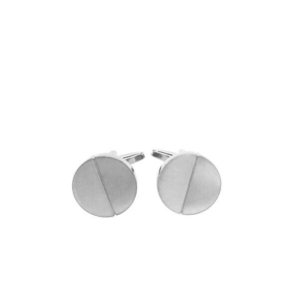 Silver Halves Cufflinks