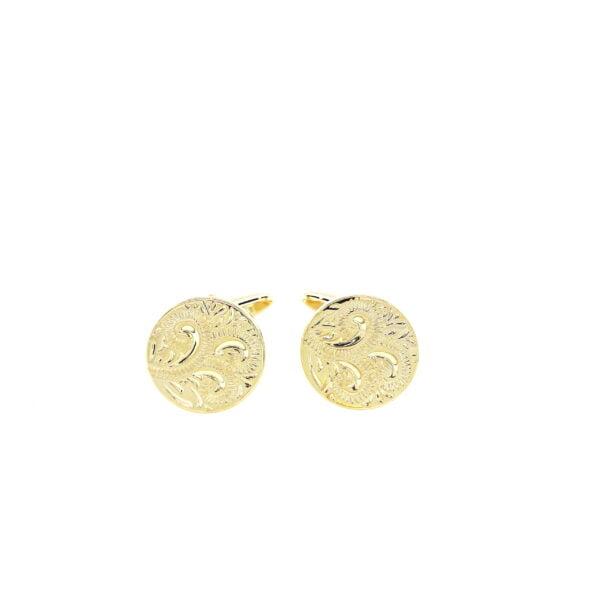 Gold Paisley Cufflinks