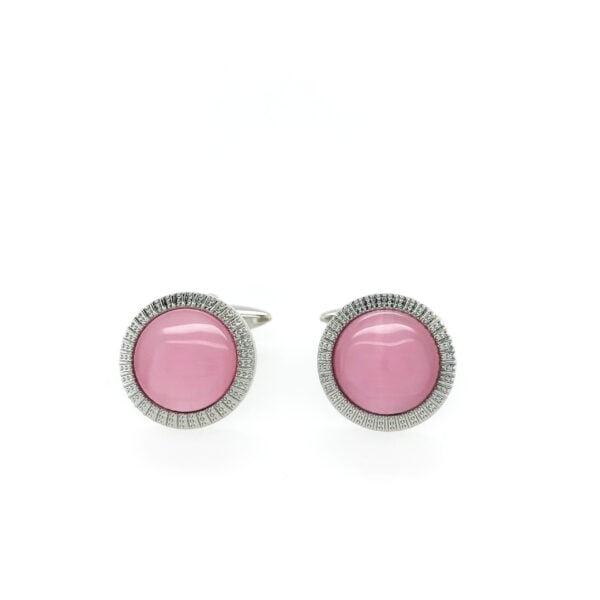 Pink Cat Eye Cufflinks
