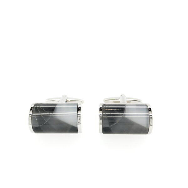 Grey Cat Eye Cufflinks