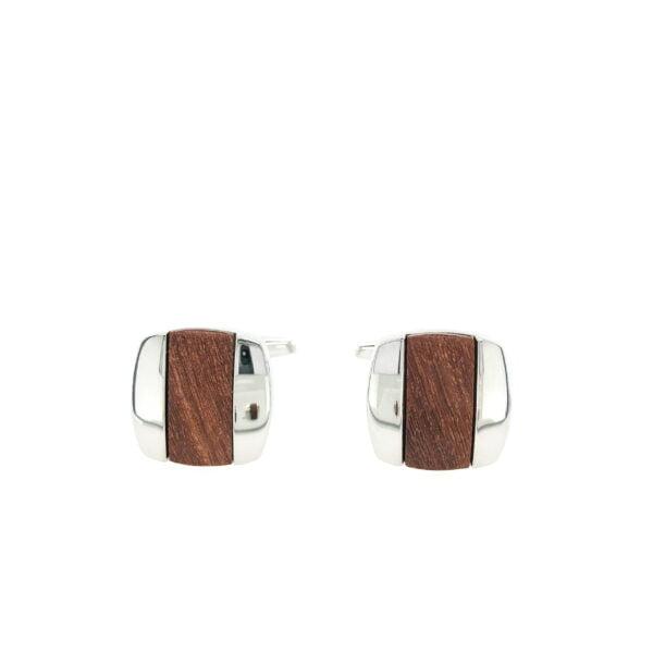 Wood Stripe Cufflinks