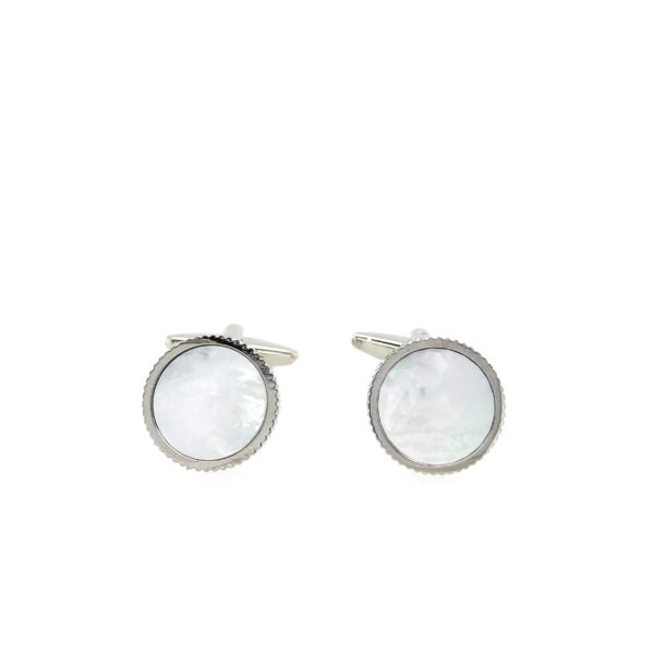 Ribbed Mother of Pearl Cufflinks