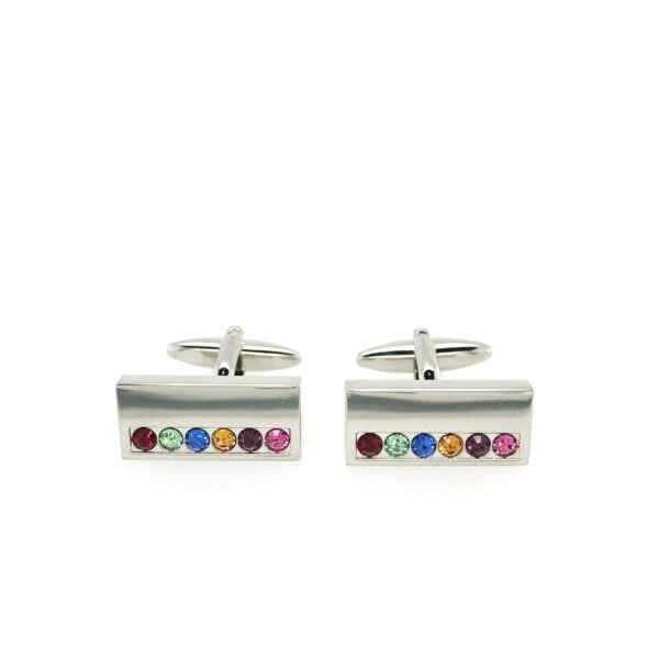 Rainbow Crystals Cufflinks