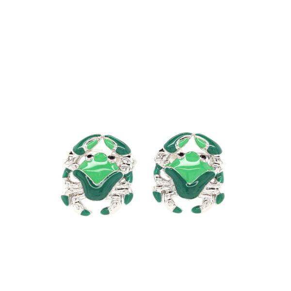 Green Crab Cufflinks