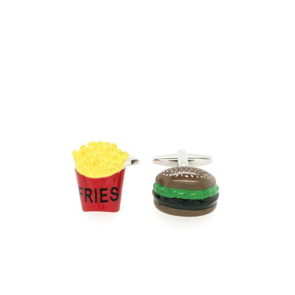 Burger & Fries Cufflinks