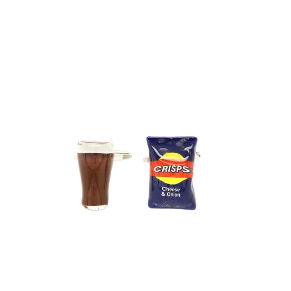 Beer & Crisps Cufflinks